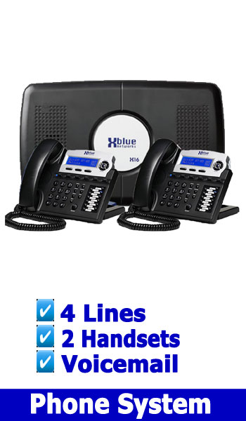 XBLUE NEW SMALL PHONE SYSTEM, 4 Lines 2 HANDSETS