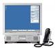 Mitel Navigator is an innovative space saving alternative to a fully integrated IP desktop handset