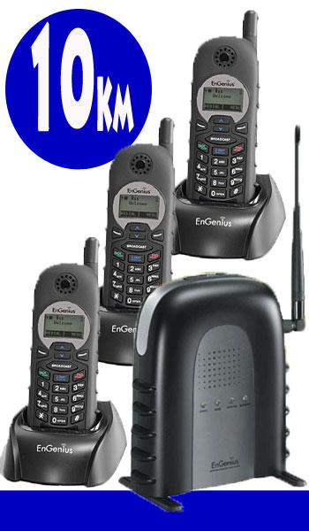 3 Pack Long Range Radio Cordless Intercom Walkie Talkie