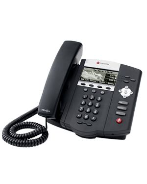 Polycom SoundPoint IP 450, Symbol Keycaps, 3-line IP phone with HD Voice (2200-12450-225)