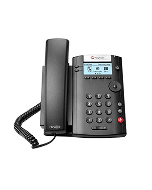 Polycom VVX 201 2-line Desktop Phone with HD Voice (Microsoft Skype for Business/Lync Edition)