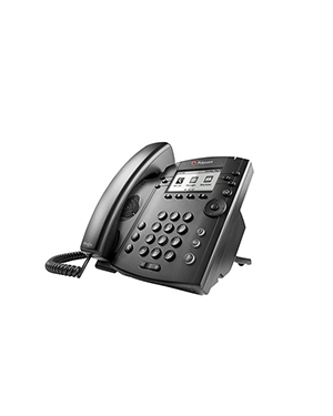 Polycom VVX 300 6-line Desktop Phone with HD Voice (Microsoft Skype for Business/Lync Edition)