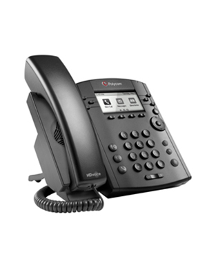 Polycom VVx 310 POE 6-line Desktop Phone Gigabit Ethernet with HD Voice (2200-46161-025)