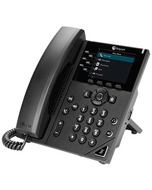 Polycom VVX 350 6-line Desktop Business IP Phone (PoE ONLY)