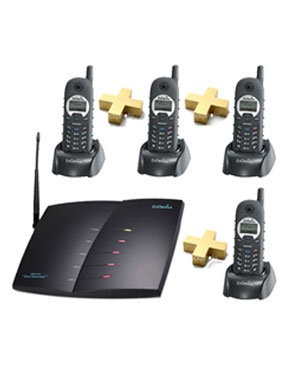 "Long Range Cordless Phones, Engenius 4 Cordless Handsets and System  ""10 KM Long Range"""