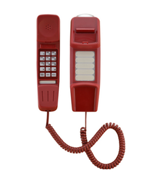 Interquartz IQ50R Red Slimline Phone