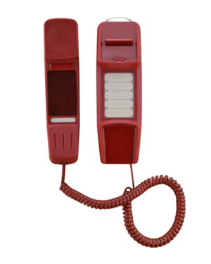 Interquartz IQ50RN Red Dial-less Slimline Phone