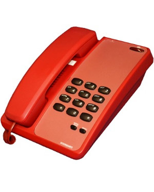 IQ280R Analogue Interquartz HOTLINE RED PHONE with 5 Year Warranty! Use for a RED EMERGENCY PHONE, Office, Hotel Telephone