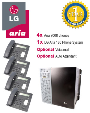 LG Aria 130 Phone System with 4 Handsets