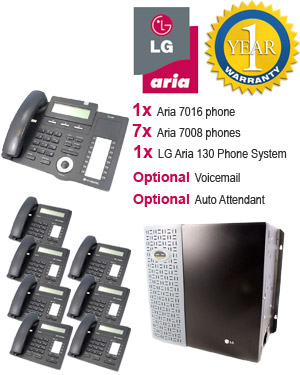 LG Aria 130 Phone System with 8 Handsets