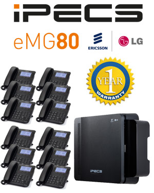 LG iPECS eMG80 Phone System with 12 Handsets