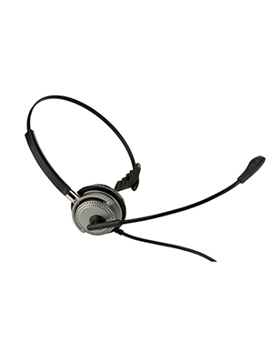 BTC M501 Monaural Wired Headset with Curly Cord
