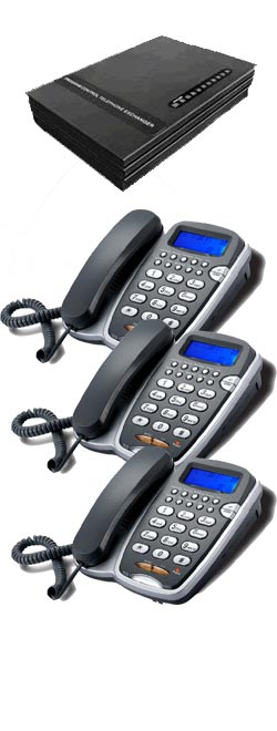 Small Business Phone System, 3 Lines up to 8 Handsets