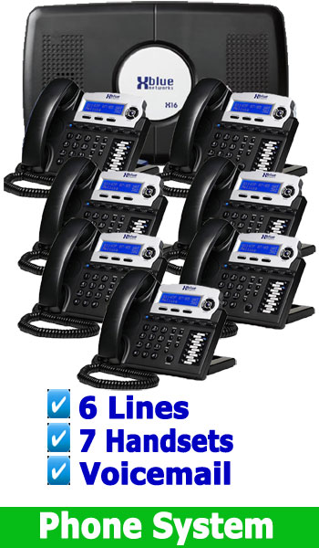 NEW SMALL OFFICE BUSINESS PHONE SYSTEM, 4 Lines up to 16 Handsets (included is Voicemail) 6 Lines 7 Digital Handsets