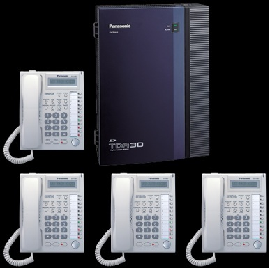Panasonic TDA30 Business phone system 4 line, 4 handsets