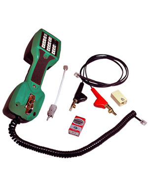 Telephone Technicians Test butinski tool, Linesman's Test Telephone with 2-way hands-free speaker, adjustable volume switch, line polarity check and monitor talk switch.