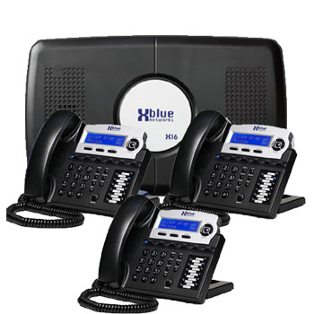 XBLUE NEW SMALL PHONE SYSTEM, 4 Lines 3 HANDSETS