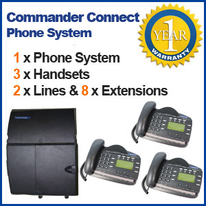 Commander Connect Phone System with 3 Handsets