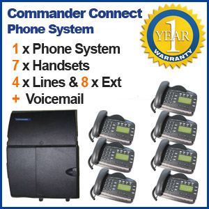 Commander Refurbished Telephone System 7 Handsets and Voicemail