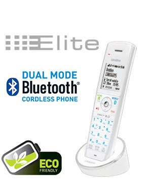 Uniden ELITE 9105W Additional Handset White Colour works in conjunction with the ELITE 91XX Digital Cordless Phone Series