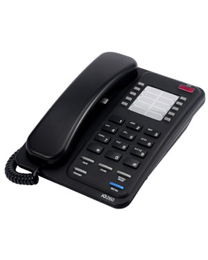 Interquartz Enterprise IQ260B Analogue Black Business Phone for Hotel