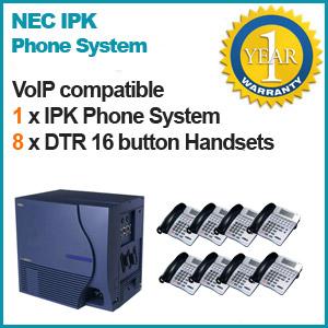 NEC IPK Phone system 4 Lines 8 Handsets Refurbished