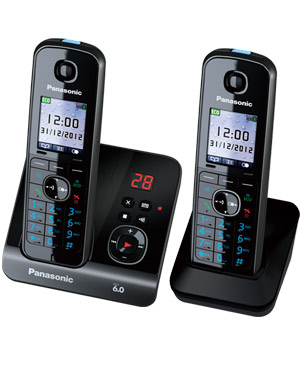 Panasonic KX-TG8162 Cordless Phone Twin Pack with digital answering machine (KX-TG8162)