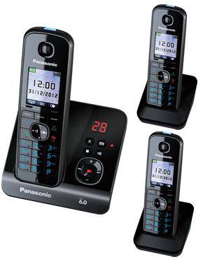 Panasonic KX-TG8163 Cordless Phone Triple Pack with digital answering machine (KX-TG8163)