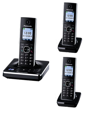 Panasonic KX-TG8563 Cordless Phone Triple Pack with digital answering machine (KX-TG8563)