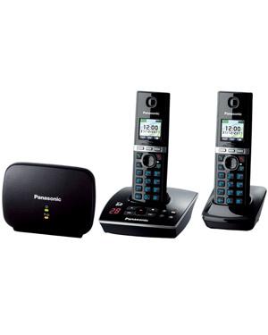 Panasonic Premium DECT KX-TG8032 Cordless Phone & 18 min Answering Machine +1 Additional Handset (KX-TG8032)