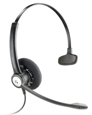 Plantronics Entera Wideband Monaural Noise Cancelling Headset (79180-02)