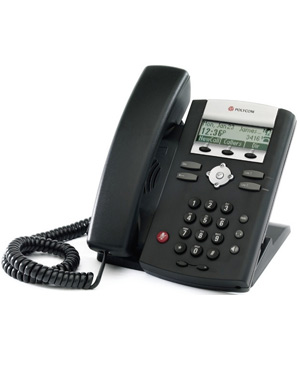 Polycom SoundPoint IP 331 IP Phone 2-line SIP desktop phone with TWO 10/100 Ethernet port and PoE support