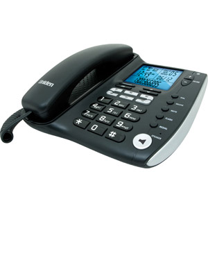 Uniden FP 1200 Corded Phone with Caller ID, analogue desk phone works even under power failure conditions