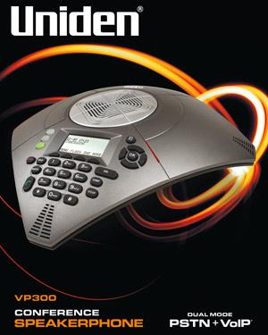 Uniden VP300 Conference Speakerphone Dual Mode (PSTN + VoIP)
