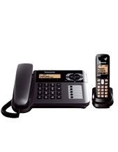 Panasonic KX-TG6461 Digital Cordless Phones, 2 Phones in 1 - this pack is equipped with both a corded with base unit and cordless phone