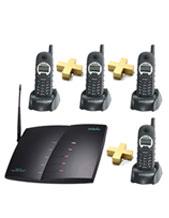 "Long Range Cordless Phones, Engenius 4 Cordless Handsets and System  ""10 KM Long Range"""