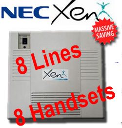 Secondhand - Refurbished Nec Xen Axis Telephone System,  8-16 Lines, Up to 20 Digital Handsets