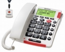 WaterProof Pendant Oricom TP170WH Big Button Aged Care Emergency Phone with Emergency Pendant, Perfect for seniors, elderly parents or loved ones who live alone.