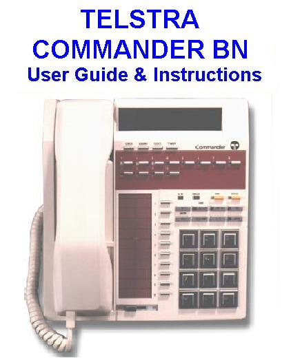 Telstra Commander BN User Guide & Instructions Manual Download