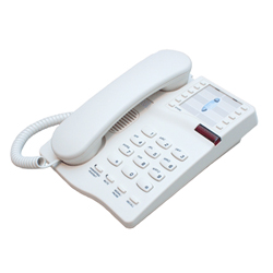IQ 333 Telephone including Handsfree - Headset telephone with 10 memories and Message wait light (White)