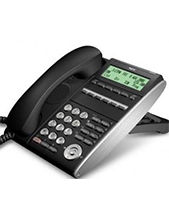NEC DT710 6-button Black IP Telephone (Refurbished)