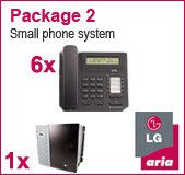 LG Aria 130 Phone System with 6 Handsets