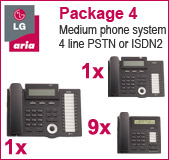 LG Aria 130 Phone System with 11 Handsets: PACK 4 for Medium Size Business, 9x 7008 Telephones, 1x 7016 Handset, 1x 7024 Handset