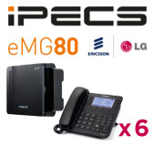 LG iPECS eMG80 Phone System with 6 Handsets