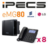 LG iPECS eMG80 Phone System with 8 Handsets