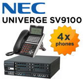 NEC UNIVERGE SV9100 Telephone System with 8 Handsets