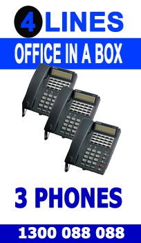 """4 Line, 3 Digital Handsets, Music Onhold Plug Business Phone System In a Box """" Very Easy installation"""" Plug and Play NEW, Business Telephone System with Optional Handsets and Cordless Phones"""