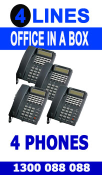 """4 Line, 4 Digital Handsets, Music Onhold Plug Business Phone System In a Box """" Very Easy installation"""" Plug and Play NEW, Business Telephone System with Optional Handsets and Cordless Phones"""
