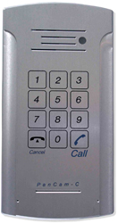 Outdoor Door Phone Flush Mounted with NO camera and keypad intercom