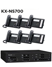 Panasonic KX-NS700 Phone System with 6 Handsets